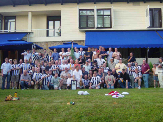 Entertaining the travelling Toon Army, Belgrade August 2003